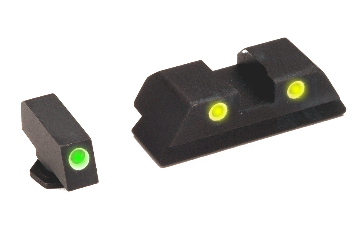 GLOCK Sight Comparison: Ameriglo vs  Meprolight vs  TruGlo