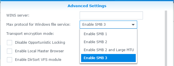 Synology NAS SMB 3 Windows Connection Issues - S2 Blog