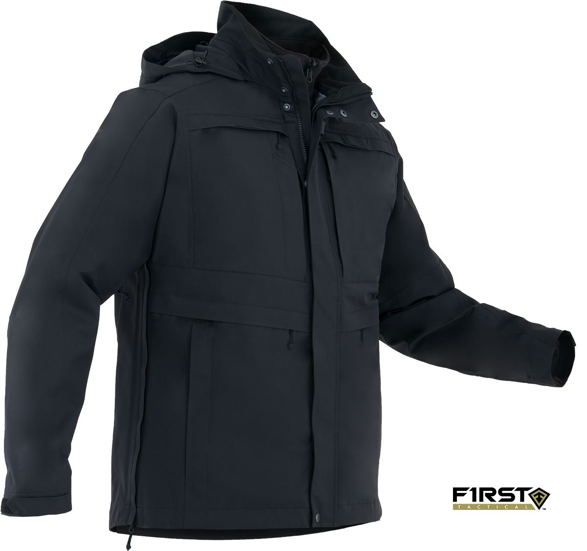 Mens Tacix Series System Parka - black